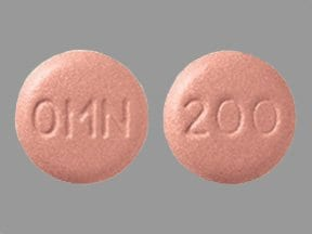 Topamax 200 mg tablet