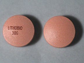 lithium carbonate ER 300 mg tablet,extended release