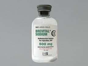 Brevital 500 mg solution for injection