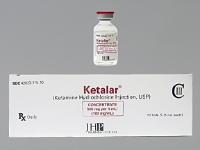 Ketalar 100 mg/mL injection solution