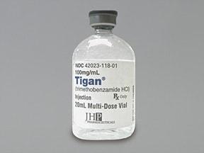 Tigan 100 mg/mL intramuscular solution
