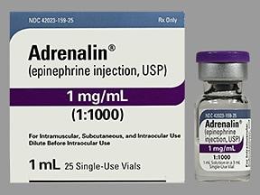Adrenalin 1 mg/mL (1 mL) injection solution