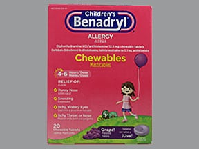 Children's Benadryl Allergy 12.5 mg chewable tablet