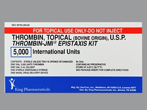 Thrombin-JMI 5,000 unit nasal spray syringe