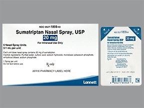 sumatriptan 20 mg/actuation nasal spray