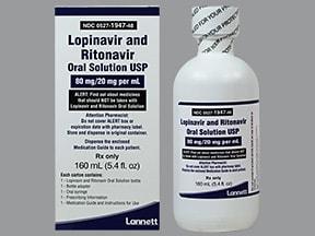 lopinavir-ritonavir 400 mg-100 mg/5 mL oral solution