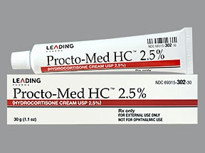 Procto-Med HC 2.5 % topical cream perineal applicator