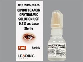 ciprofloxacin 0.3 % eye drops