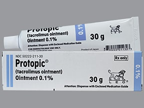 Protopic 0.1 % topical ointment