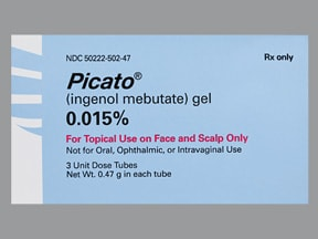 Picato 0.015 % topical gel