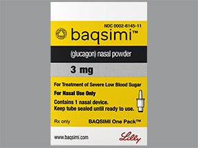 Baqsimi 3 mg/actuation nasal spray
