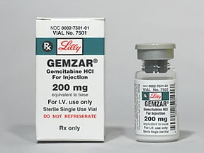 Gemzar 200 mg intravenous solution