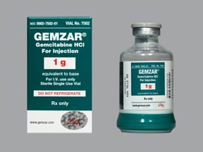 Gemzar 1 gram intravenous solution