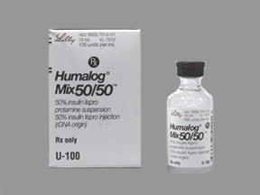 Humalog Mix 50-50 (U-100) Insulin 100 unit/mL subcutaneous suspension