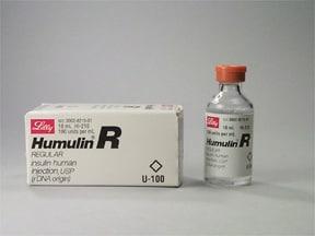 Humulin R U-100  100 unit/mL injection solution