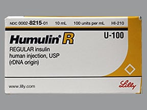 Humulin R Regular U-100 Insulin 100 unit/mL injection solution