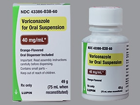 voriconazole 200 mg/5 mL (40 mg/mL) oral suspension