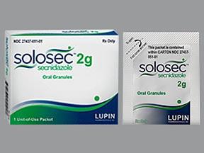 Solosec 2 gram oral DR granules in packet