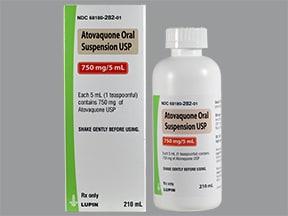 atovaquone 750 mg/5 mL oral suspension