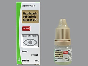 moxifloxacin 0.5 % eye drops