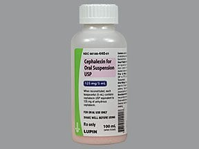 cephalexin 125 mg/5 mL oral suspension