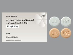 levonorgestrel-ethinyl estradiol 0.1 mg-20 mcg tablet