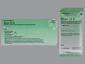 Blisovi 24 Fe 1 mg-20 mcg (24)/75 mg (4) tablet