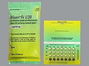 Blisovi Fe 1/20 (28) 1 mg-20 mcg (21)/75 mg (7) tablet