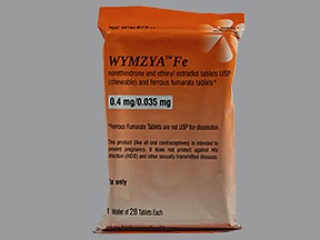 Wymzya Fe 0.4 mg-35 mcg (21)/75 mg (7) chewable tablet