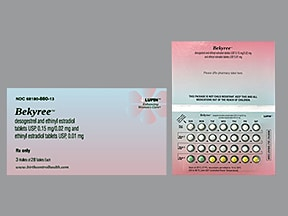 Bekyree (28) 0.15 mg-0.02 mg (21)/0.01 mg (5) tablet