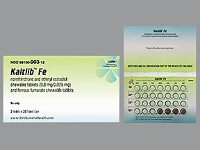 Kaitlib Fe 0.8 mg-25 mcg (24)/75 mg (4) chewable tablet
