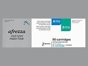 Afrezza 4 unit (30)/8 unit (60) cartridge with inhaler