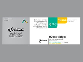 Afrezza 8 unit (60)/12 unit (30) cartridge with inhaler