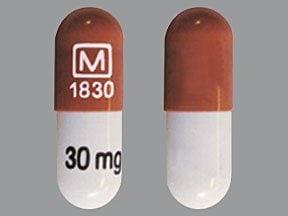 methylphenidate CD 30 mg biphasic 30-70 capsule,extended release