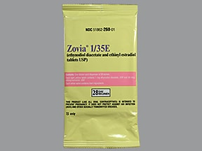 Zovia 1/35E (28) 1 mg-35 mcg tablet