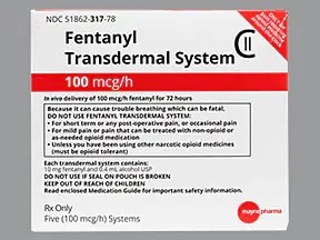 fentanyl 100 mcg/hr transdermal patch ...