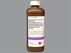 brompheniramine-pseudoephedrine-DM 2 mg-30 mg-10 mg/5 mL oral syrup