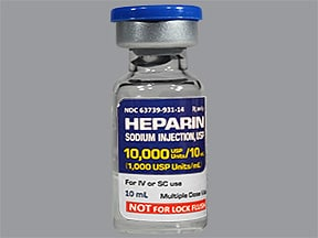 heparin porcine injection uses side effects interactions