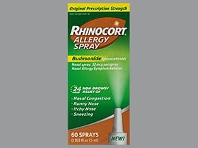 Rhinocort Allergy 32 mcg/actuation nasal spray