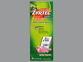 Children's Zyrtec Allergy 1 mg/mL oral solution