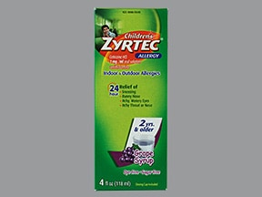 Children's Zyrtec Allergy 1 mg/mL oral solution