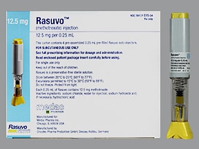 Rasuvo (PF) 12.5 mg/0.25 mL subcutaneous auto-injector