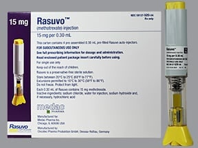 Rasuvo (PF) 15 mg/0.3 mL subcutaneous auto-injector