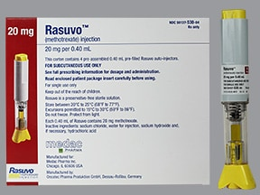 Rasuvo (PF) 20 mg/0.4 mL subcutaneous auto-injector