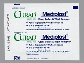Mediplast Corn-Callus-Wart Remover 40 % topical patch