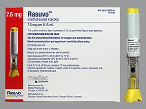 Rasuvo (PF) 7.5 mg/0.15 mL subcutaneous auto-injector