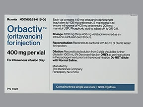 Orbactiv 400 mg intravenous solution