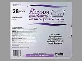 Rowasa rectal suspension enema 4 gram/60 mL