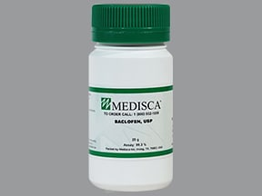 baclofen (bulk) 100 % powder