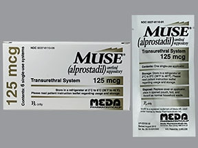 Muse 125 mcg intra-urethral suppository